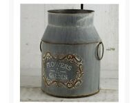 Flowers & garden milk churn