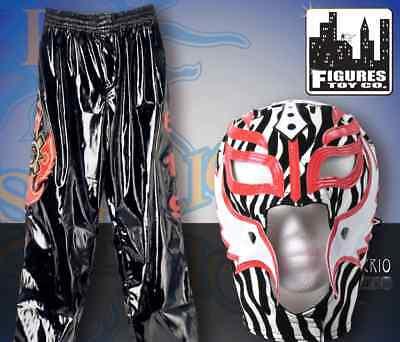 WWE Rey Mysterio Zebra Replica Kid Size Mask & Pants  Halloween - Kids Rey Mysterio Costume