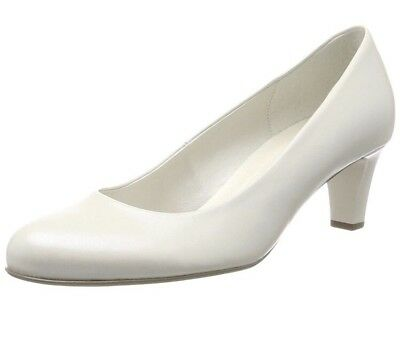 Gabor Shoes Women's Basic Closed-Toe Pumps White (Off-White+Absatz) 6.5 UK 40 EU