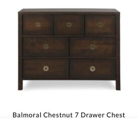 Laura Ashley Balmoral Chestnut chest of drawers * free furniture delivery *