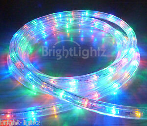 MULTICOLOUR LED ROPE LIGHT OUTDOOR LIGHTS CHASING STATIC CHRISTMAS XMAS GARDENS