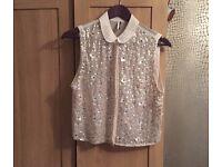 Topshop sequin shirt