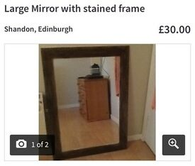 Stained large mirror