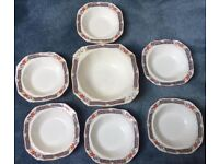 Pretty Vintage Harmony Shape Alfred Meakin Bowl Set