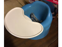 Bumbo Seat, practically brand new! Blue