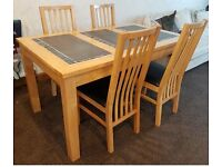 Real Wood Dining Table and 4 Chairs