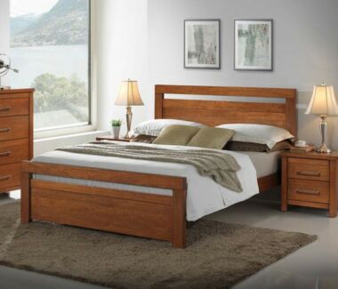 "Bedshed ""Georgia"" Queen Timber Bed - As new RRP $699 Brighton Brisbane North East Preview"