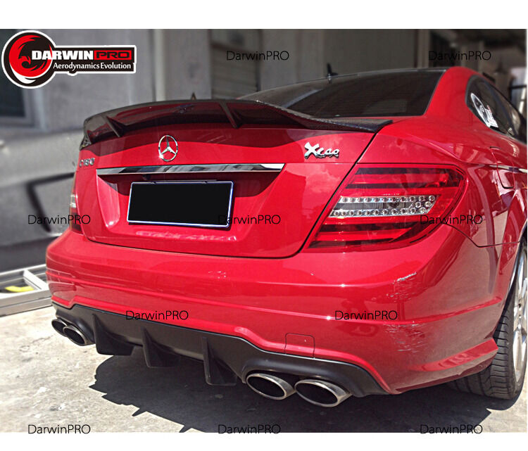 2008-2014 C Class Sedan C63 Rt Style Carbon Fiber Trunk Spoiler For Benz W204