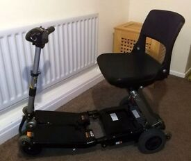 Black Luggie Portable Folding Mobility Scooter with Battery, Charger and Instruction Booklet