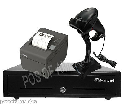 Point Of Saleposentry Kit Drawer Thermal Printer Barcode Scanner Aldelo New