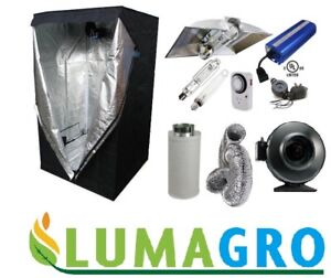 LUMAGRO AIR COOL TUBE 1000W grow lights package with grow tent,
