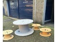 Designer garden table with stools