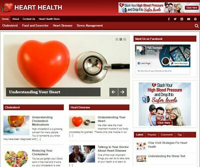 Heart Health Ready Made Blog - Established Profitable Turnkey Website For Sale