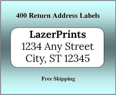 400 Return Address Labels. 12 X 1.75 Inch White Labels. Easy Peel Stick.