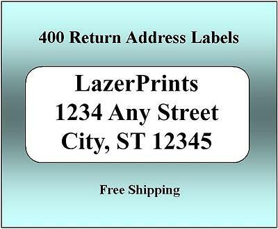 400 Return Address Labels. 12 X 1.75 Inch White Labels. Easy Peel Stick.
