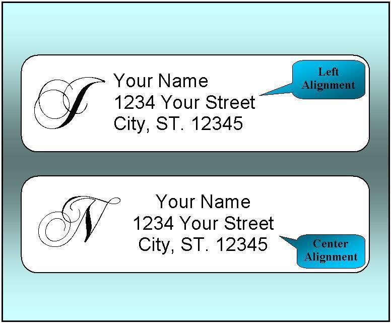 Купить WorldLabel - 400 Personalized Return Address Labels.  1/2 x 1.75 Inch Monogrammed Labels.