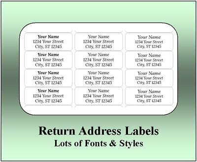 Return Address Labels - Mini Sheets. 15 Fonts. 3 Sizes. Free Shipping.