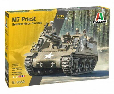 Italeri 6580 Panzer US M-7 Priest Howitzer Self-Prop Model Kit Bausatz 1:35