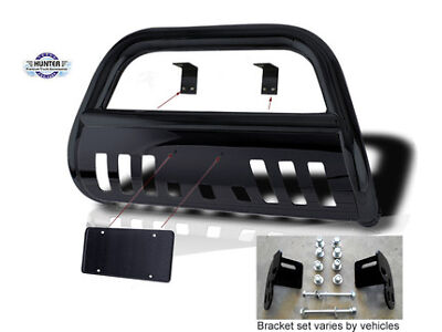 2007-2014 Chevy Chevrolet Avalanche Bumper Guard Push Bull Bar In Black