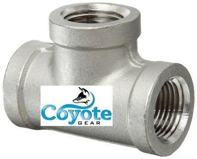 2 Pack Lot 316 Stainless 12 Npt Tee Npt Pipe Thread Fitting 150 Coyote Gear T