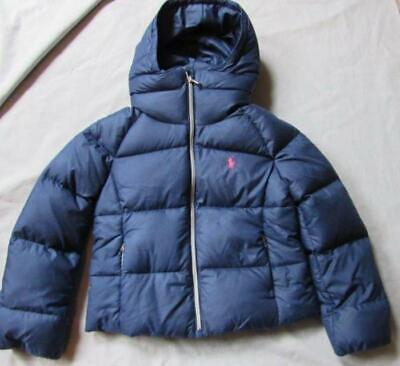 POLO RALPH LAUREN girls Down Deep Atlantic blue puffer zip jacket NEW Atlantic Down Jacket