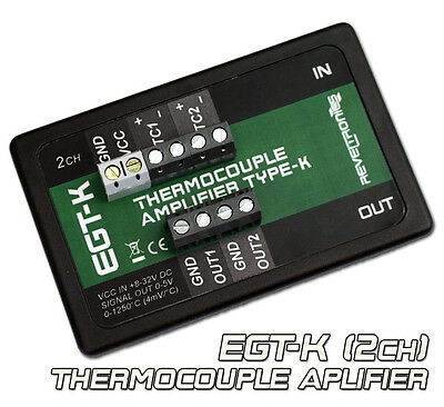 Egt-k Thermocouple Amplifier Conditioner K-type 0-1250c 0-5v 2ch Ad8495 Ad597