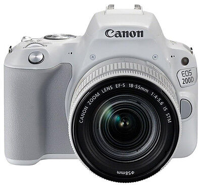Canon EOS 200D  Rebel SL2  24.2 MP Camera 18-55mm IS STM lens (Oyster-white) Exp Ship