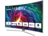 "SAMSUNG UE55JS9000 Smart 3D 4k SUHD HDR 55"" Curved TV + Alphason Tensai Stand"