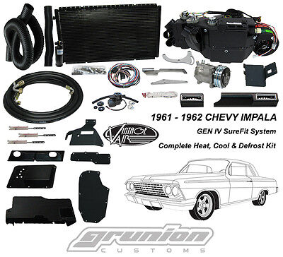 Chevrolet Imapla w/ AC 1961-62 Air Conditioning Heat Defrost Vintage Air Kit