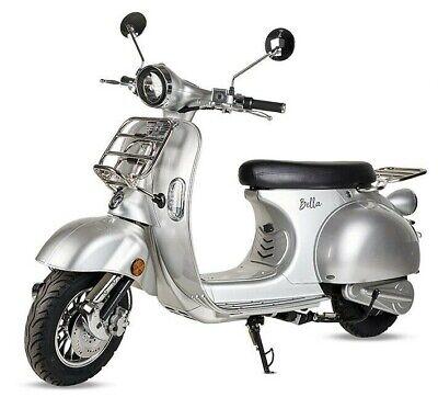 Moto scooter electrica matriculable Vespa 3000w bateria matricula 50 Km gris