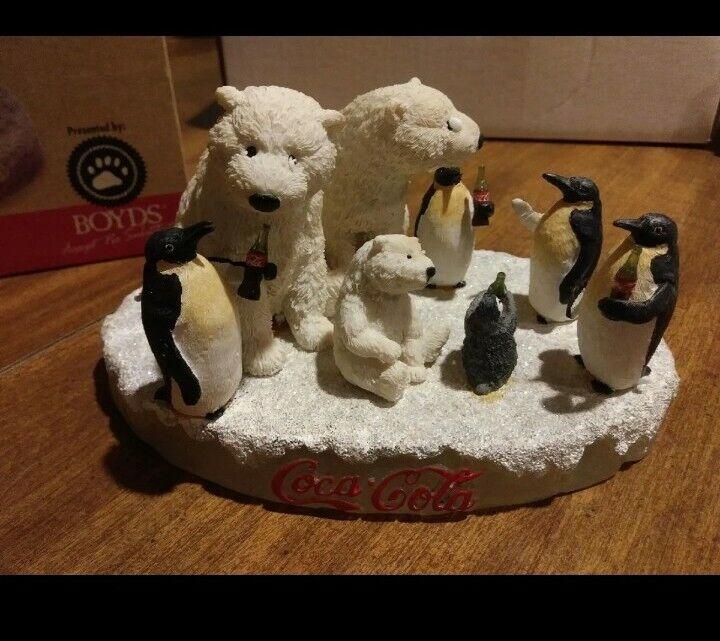 Boyds Coca Cola, Polar Bears And Penguins Figurine