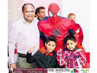 SUPER HERO PARTIES Party MASCOT Childrens Kids HULK IRON SPIDER MAN Meet Greet Entertainer HACKNEY