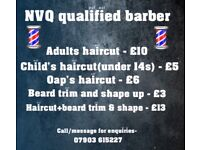 Nvq level 2 qualified barber