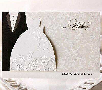 Wedding invitation cards with envelopes, seals, custom ...