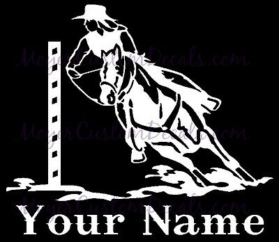 Horse Bender (Pole Bending Bender western Horse Gaming Decal Sticker YOU CHOOSE NAME AND COLOR )