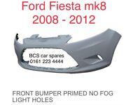 FORD. FIESTA. FRONT BUMPER. NEW. ( No Fog Type ). 2008 - 2011. New