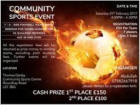 cash prizes community football event