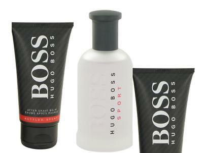HUGO Boss Bottled Sport 50ml EDT Spray, 50ml Shower Gel, 50ml Aftershave Balm