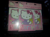 3 packs of hello kitty party invites