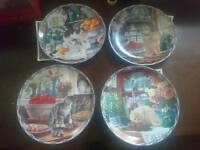 Warm country moments cat plates