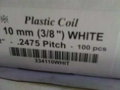 100pc 10mm White Plastic Coil Binding Supplies Spiral Plastic Coil Binders Sale