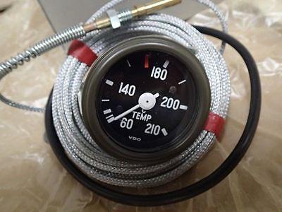 VDO Temperature Gauge 210° diameter 60 mm capillary tube 4.8 m  Air cooled NOS
