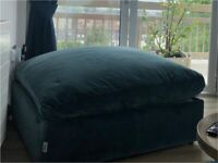 Extra large velvet footstool