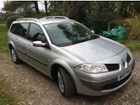 RENAULT MEGANE ESTATE CAR - EXCELLENT CLEAN CONDITION, 12 MONTH MOT, DIESEL 1.5L, 2007, 84000 MILES