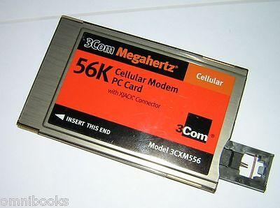 3Com Megahertz PCMCIA 56k Cellular Modem PC Card XJACK 3CMX556