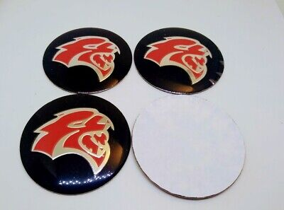 4x 56mm WHEEL CENTER CAP DECAL STICKER FOR HELLCAT CHARGER CHALLENGER RED RT