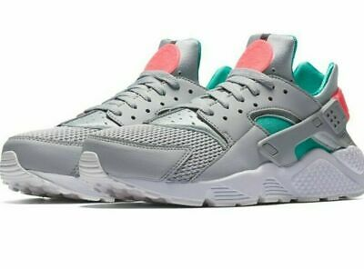 official photos ea3d9 170b4 Nike Air Huarache Wolf Grey Sunset Pulse Men s Running Shoes 318429-053 Size  12
