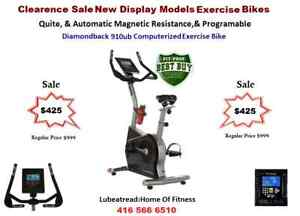 Diamondback 910UB Open Box Upright Stationary Exercise Bike Sal