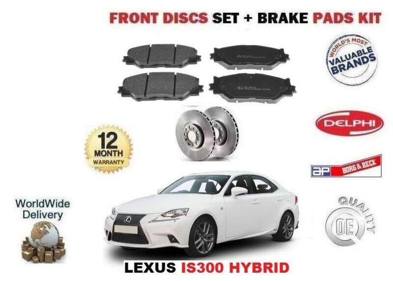 FOR LEXUS IS300 HYBRID 2013-> NEW FRONT BRAKE DISC SET + DISC PADS KIT