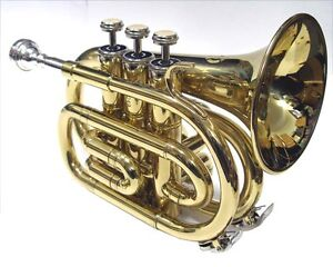 High-Quality-Bb-Flat-Pocket-Trumpet-Deluxe-Hard-Case-55-Year-Instrument-Maker